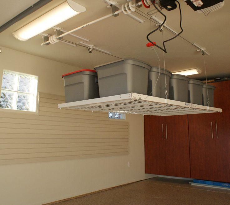 Lovely Garage Redesign Of Pulley Shelf System Unique Guideline Diy Ceiling