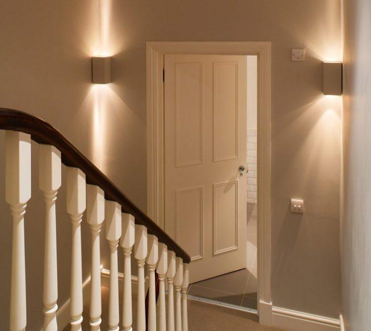 Lovely Modern Staircase Lighting Of Decorative On Stair Half Landings