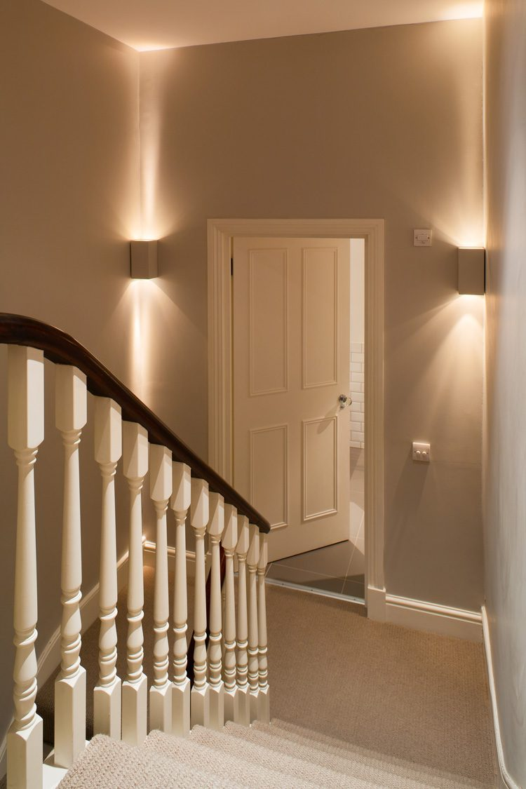 Lovely Modern Staircase Lighting Of Decorative On Stair Half