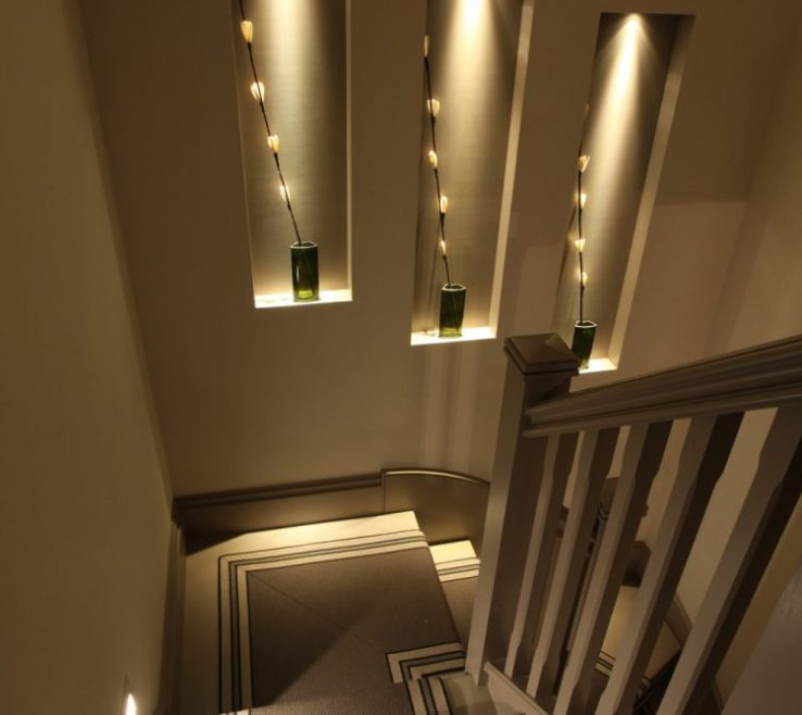 Lovely Modern Staircase Lighting Of Niches On Stairs To Add Interest