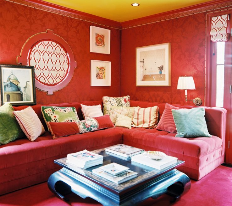 Lovely Red And Yellow Decor