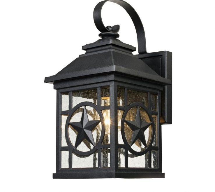 Lovely Rustic Interior Lighting Of Texas Star Outdoor Black Medium Wall Lantern