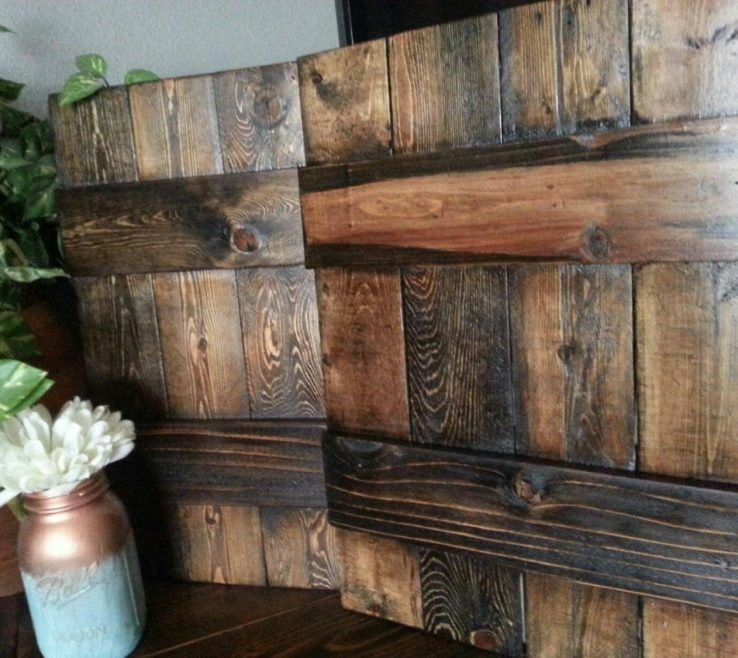 Lovely Rustic Wood Shutters Of Primitive Decorative Wooden