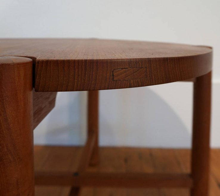 Magnificent Designer Folding Tables Of Solid Teak Table By Japanese Kathuo Mathumura