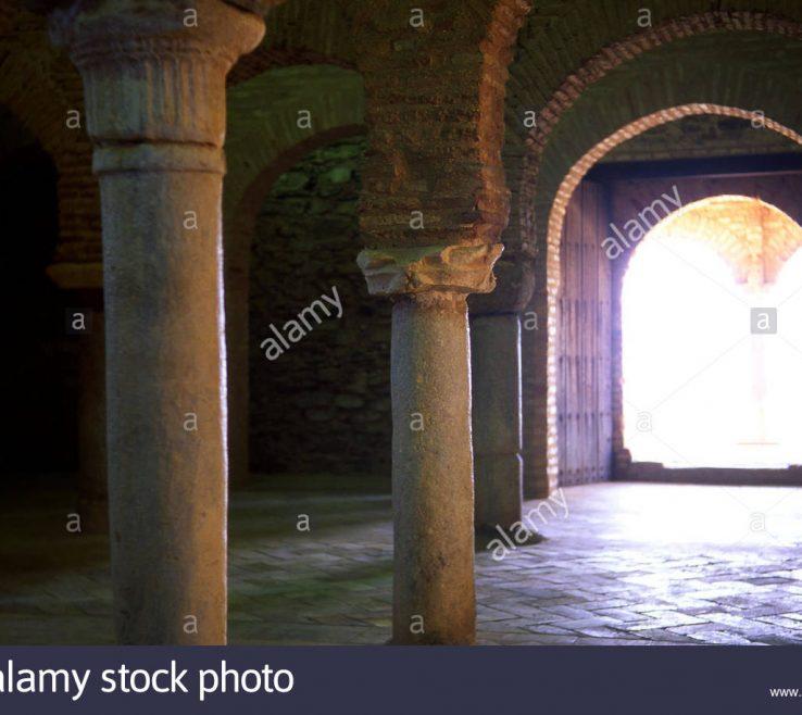 Magnificent Interior Pillars Of Spain, Ia, Almonaster La Real, Mezquita, Interior,