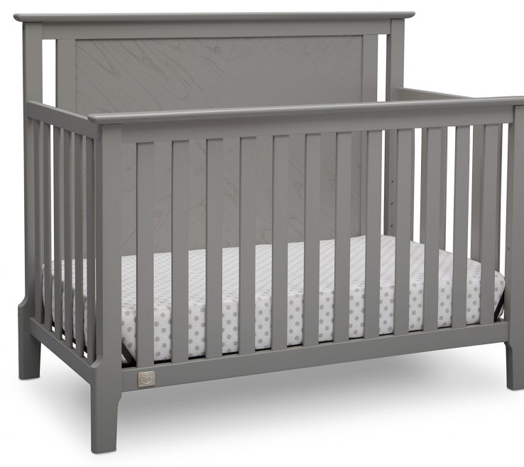 Magnificent Mid Century Modern Baby Crib Of Serta Lifestyle 4 In 1 Convertible Crib, Grey