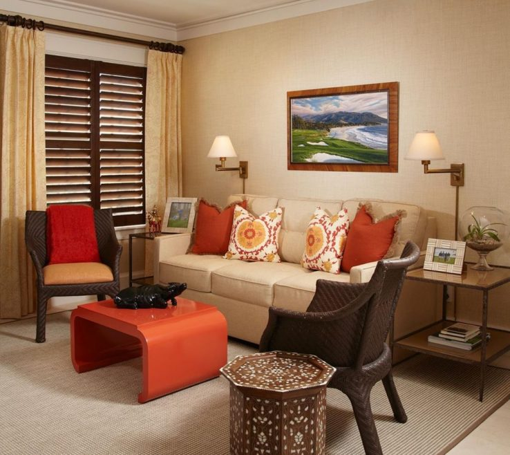 Mesmerizing Burnt Orange And Brown Living Room Ideas Of Cool With Regard To Your E Check