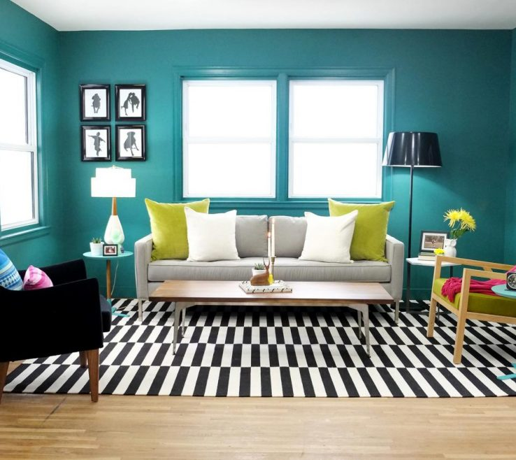 Mesmerizing Green And Turquoise Decor Of Paint An Entire Room