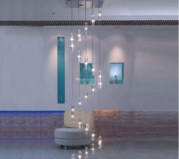 Mesmerizing Modern Staircase Lighting Of Duplex Pendant Light Pendant Lamp Led Crystal