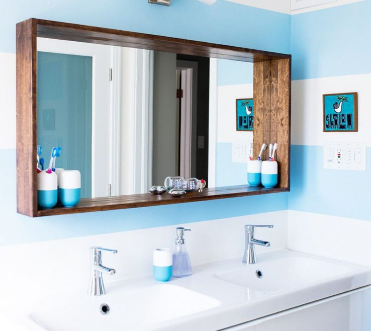 Mesmerizing Unique Bathroom Vanity Mirrors Of Before & After: A Big Sea