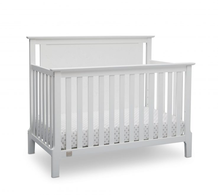 Mid Century Modern Baby Crib Of Serta Lifestyle 4 In 1 Convertible