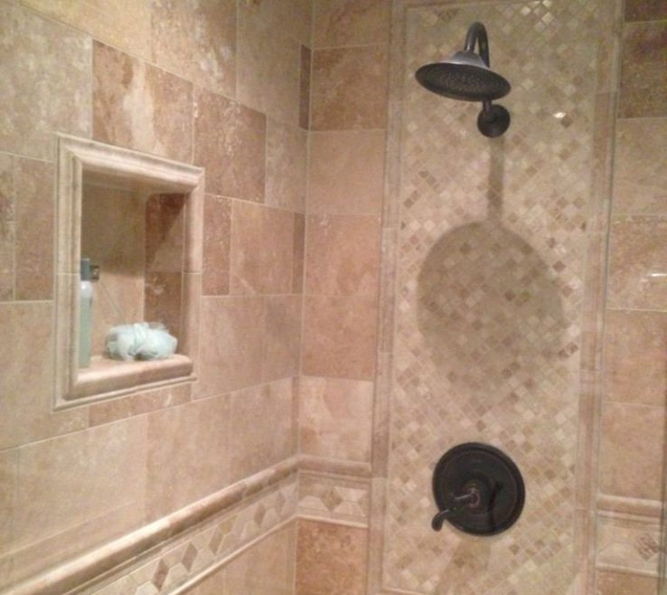 Modern Bathroom Showers Of Shower Tile Designs White And Blue Ceramic