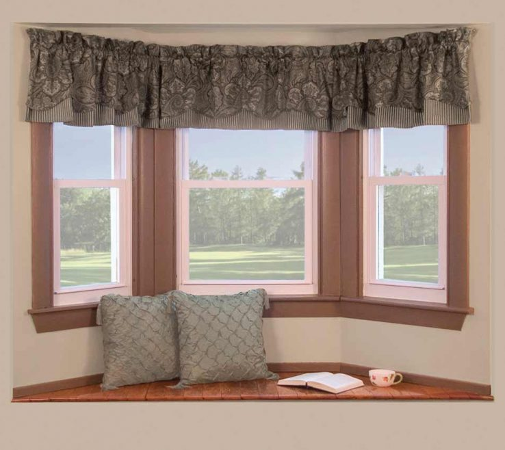 Decorating Small Bay Windows: Modern Bay Window Curtains Of Simple Windows Decor With