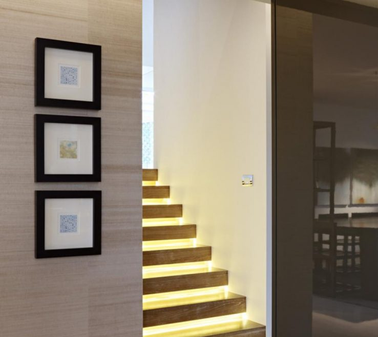 Modern Staircase Lighting Of Contemporary Indoor Stair Lights