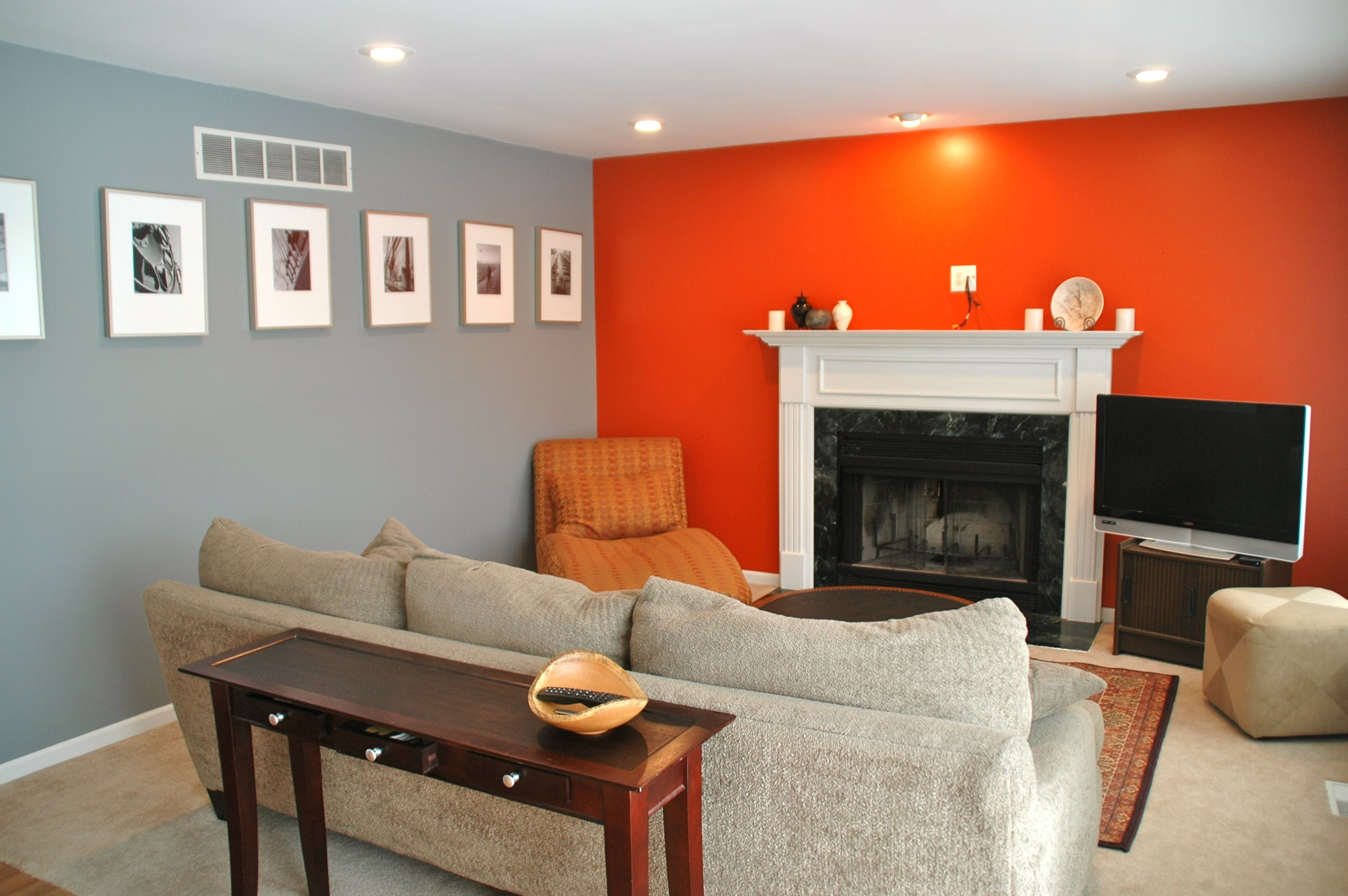 Orange Living Room Ideas - ACNN DECOR