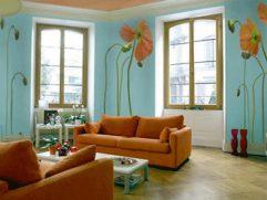 Burnt Orange And Brown Living Room Ideas