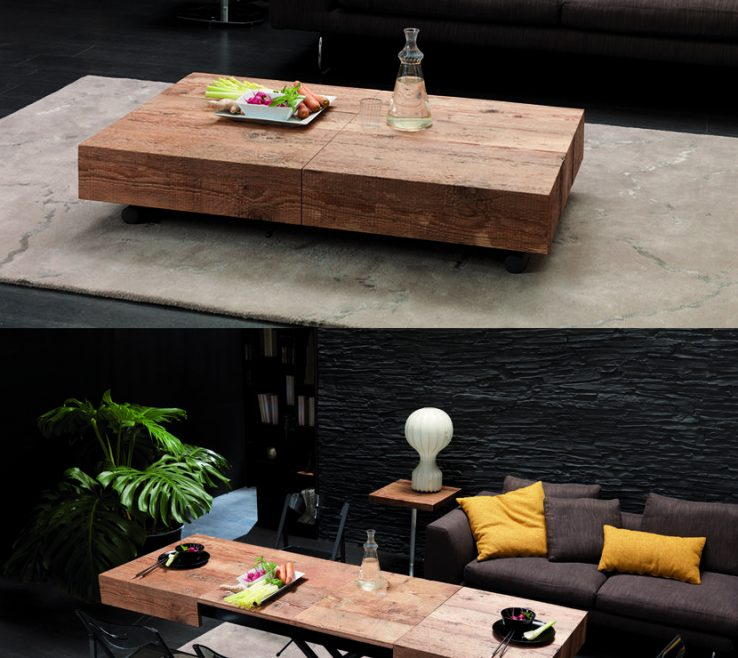 Picturesque Coffee Tables That Turn Into Dining Tables Of The Cristallo Table From Resource Furniture Transforms