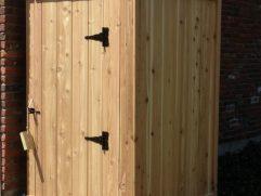 Wood Shower Door