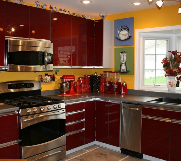 Red And Yellow Decor Of Kitchen Sets Maribo Intelligentsolutions Design Ideas Decorating