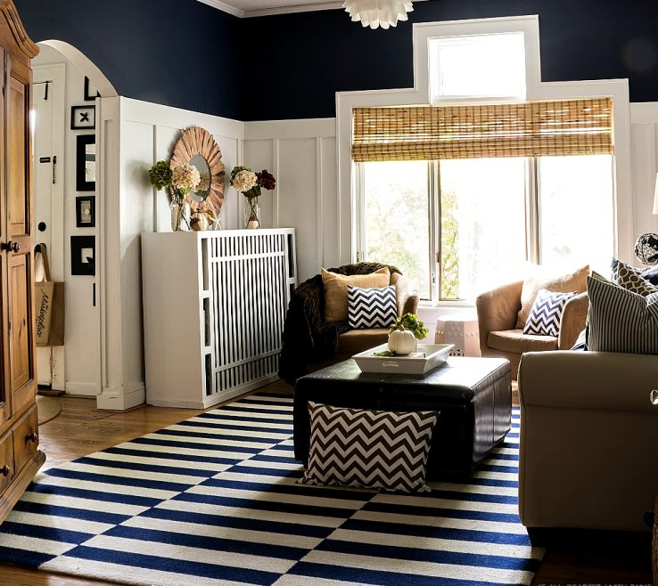 Remarkable Brown Decor Of Fall In Navy And Blue