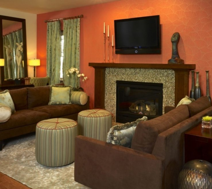 Remarkable Burnt Orange And Brown Living Room Ideas Of Large Images Of Green Chocolate