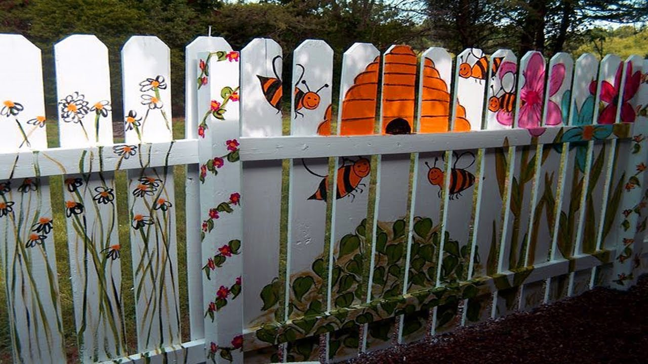 Remarkable Fence Painting Ideas Of Best Unique Colour Small Garden