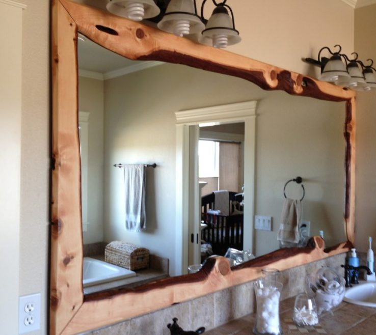 Remarkable Unique Bathroom Vanity Mirrors Of Ideas Wood Framed Large Mirror Above