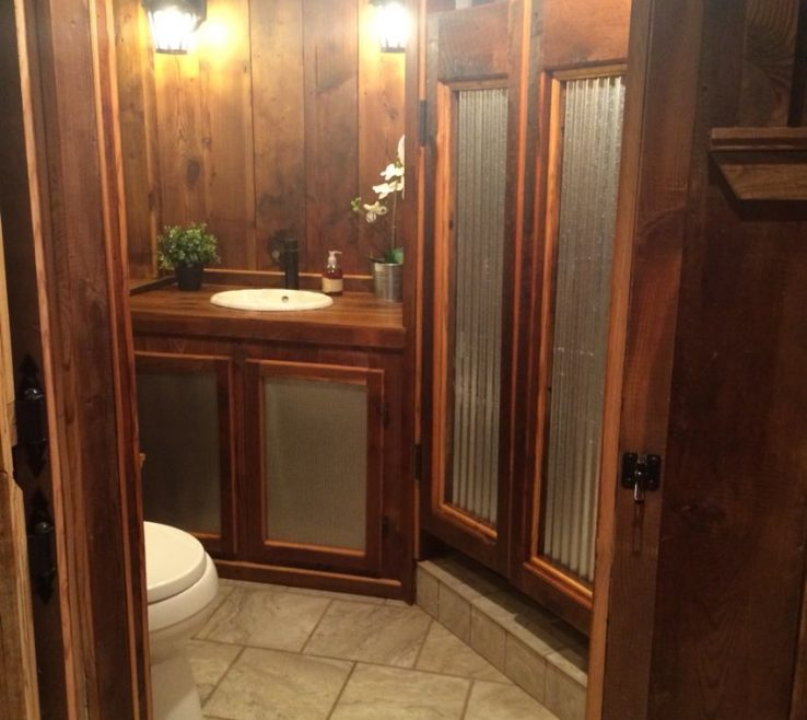 Remarkable Wood Shower Door Of Barnwoodcorrugated Metal Saloon Doors Corrugated