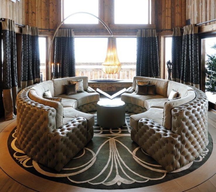 Round Modern Sofa Of Sofa. Sofa. Living Room Design Ideas. Luxury
