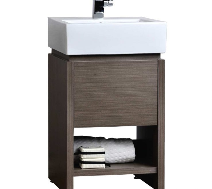 Small Modern Bathroom Of Awesome Vanity Set Light Grey Oak