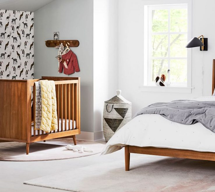 Sophisticated Mid Century Modern Baby Crib Of West Elm