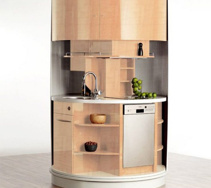 Sophisticated Space Saver Kitchen Design Of Round Fashionable Superbliance Futuristic