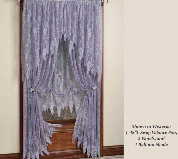 Sophisticated Ual Window Treatments Of Large Size Of Treatment:woodland Lace Valance