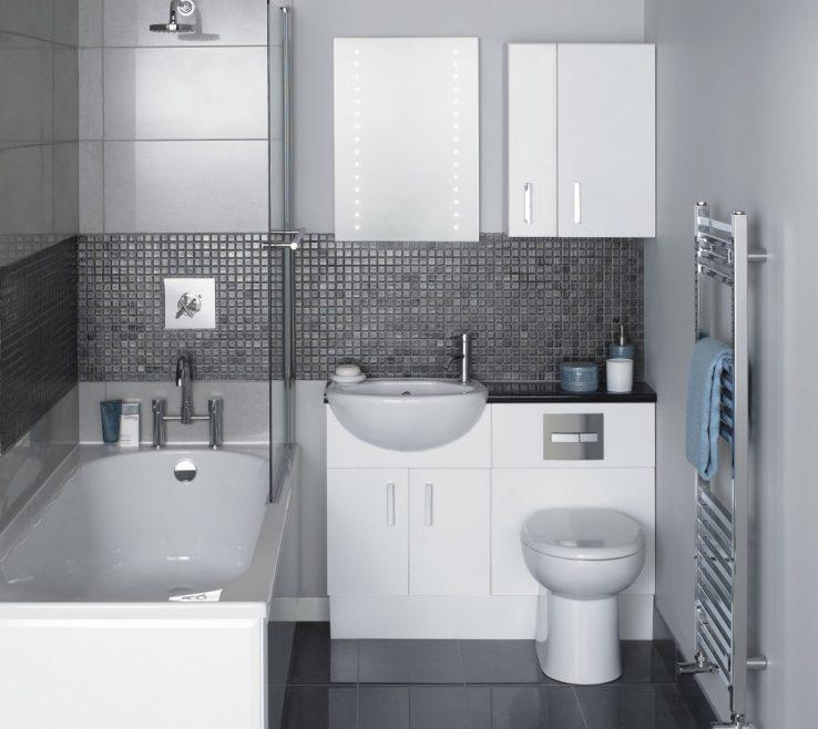 Space Saving Vanity Of Bathroom Ideas Gray Wall Paint Towelshelf Bathtub