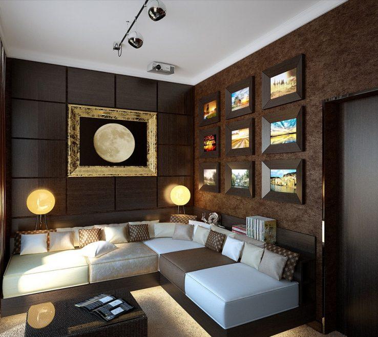 Superbealing Brown Decor Of Snug Lounge On Interior Design