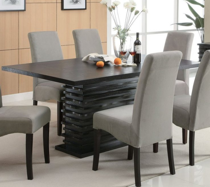 Superbealing Dining Room Tables Contemporary Design Of Coaster Fine Furniture Stanton Wood Table