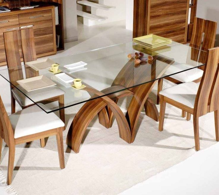 Superbealing Dining Room Tables Contemporary Design Of Rectangular Glass Dinning Table | Glass Table