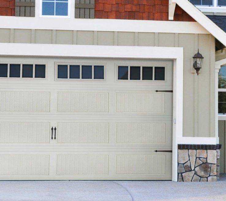 Superbealing Garage Redesign Of Grey Home With Matching Door