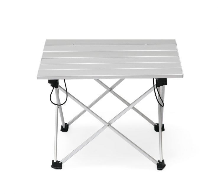 Table Collapsible Of Aluminum Folding Camping With Carrying Bag Outdoor