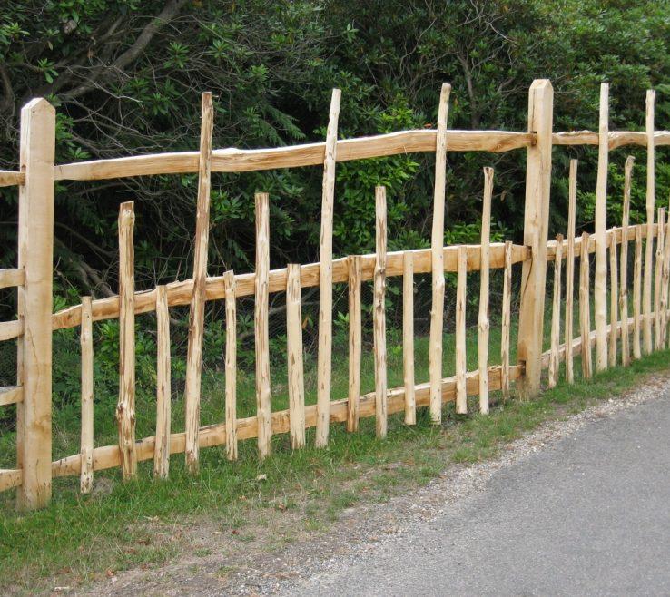 Terrific Attractive Fences Of Cleft Chestnut Deer Fence