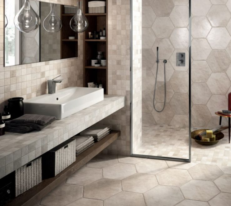 Terrific Bathroom Floor Tiles Designs