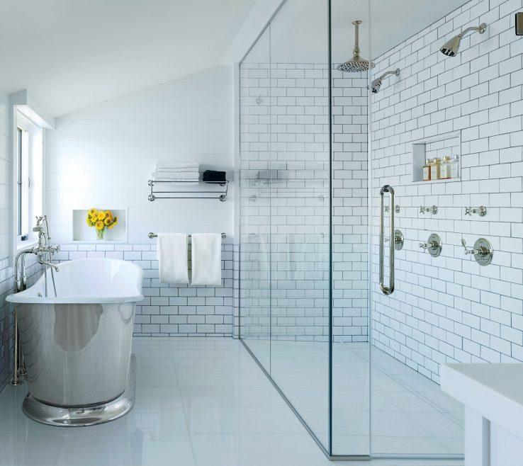 Terrific Glass Floor Tile Bathroom
