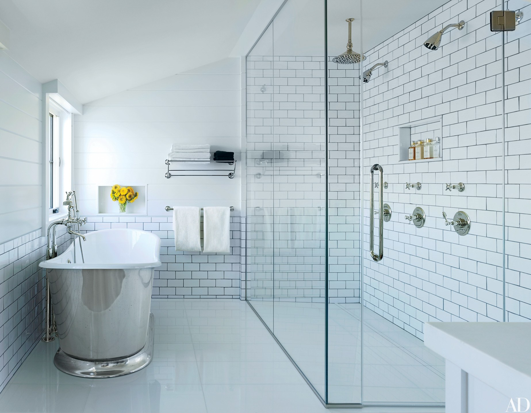 Terrific Glass Floor Tile Bathroom