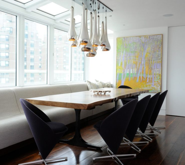 Terrific Stylish Dining Chairs Of Minimallist Room Furnitures Large Rectangle Table