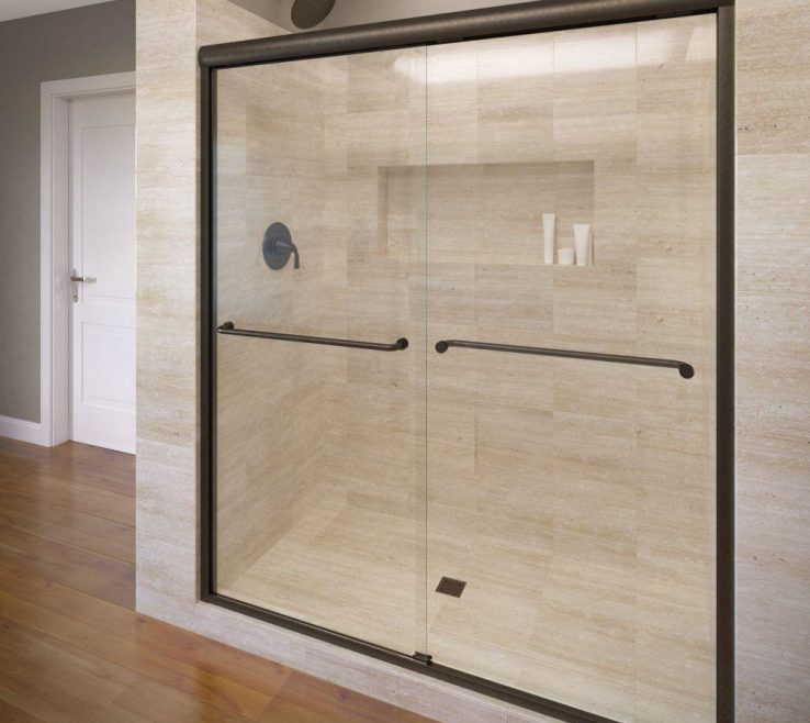 Terrific Wood Shower Door Of Basco Celesta 48 In.71 1/4 In.
