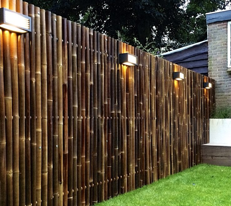 Unique Attractive Fences Of Bamboo Fence Panels Giant