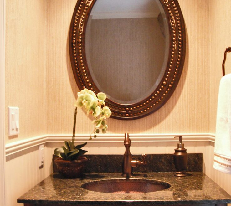 Unique Bathroom Vanity Mirrors Of Oval With Cast Iron Dark Wood Frame