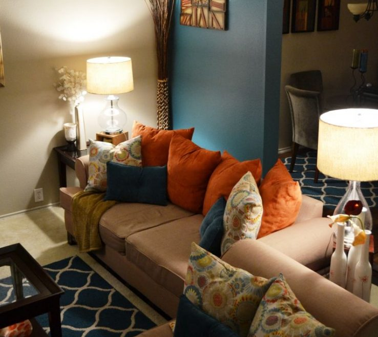 Unique Burnt Orange And Brown Living Room Ideas Of Cool With Regard To Your E Check