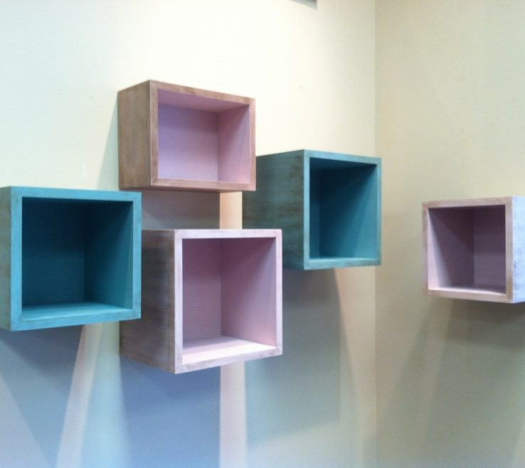 Unique Shelving Units Of Delightful Floating Box Shelves With Birch Plywood
