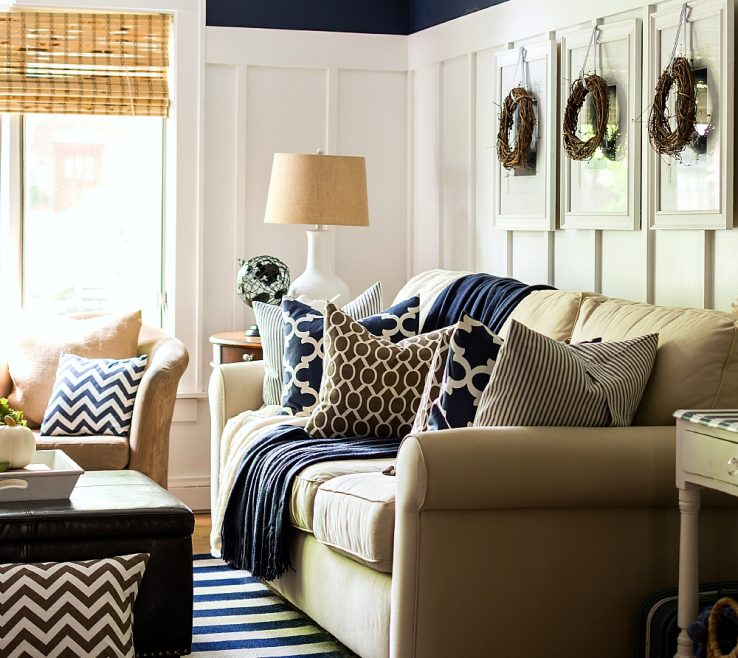 Vanity Brown Decor Of Fall Decorating Ing And Navy Neutrals